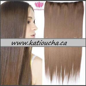"CLIP IN hair extension,Straight hair, 24"", Color GOLDEN BROWN Yellowknife Northwest Territories image 6"
