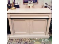 Beautiful Victorian Sideboard painted In of white