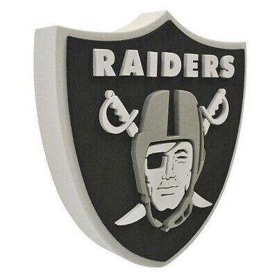 an Foam Logo Sign Bild,NFL Football,Relief Wandlogo,37cm (Oakland Raiders Fans)