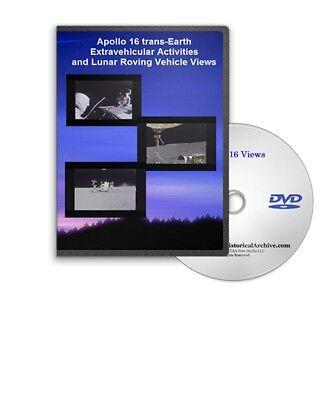 apollo 16 trans earth eva lunar roving vehicle activities views dvd a449