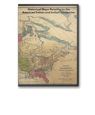76 Rare Maps of Native American Indian United States Territories CD B29