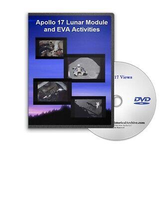 apollo 17 lunar module eva activities views lunar liftoff landing dvd a391