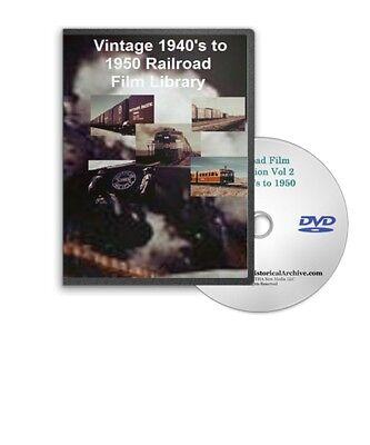 Vintage 1940&apos s 1950 Railroad &amp Train Films DVD A25