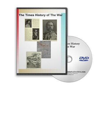 The Times History of The War WWI The Great War all 22 Volumes DVD C753