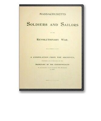 Ma Massachusetts Soldiers & Sailors In Revolutionary War 17 Vols. Cd - B277