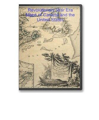 34 Historic Revolutionary War Maps United States Us & Canada On Cd - B61