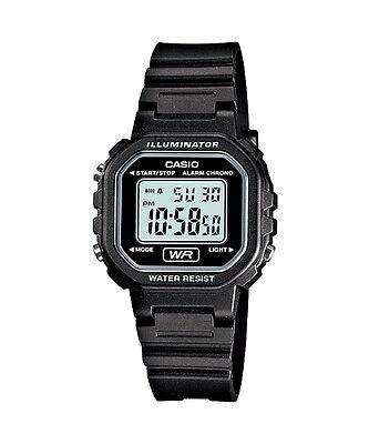 Casio Women's Digital Black Resin Watch, Chronograph, LA20WH-1A