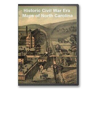 47 Rare Historic Civil War Maps Of North Carolina - Cd - B11