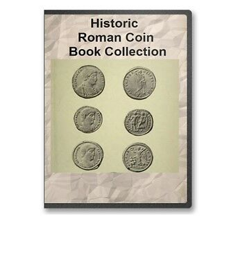 20 historical roman coin medallion reference books b327