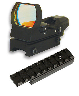 Dovetail Rail Adapter + Reflex Sight Fits 3/8 Grooves On Tippmann Markers