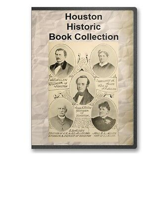 Houston TX Texas History Culture Family Tree Genealogy Guide 7 Book Set D87