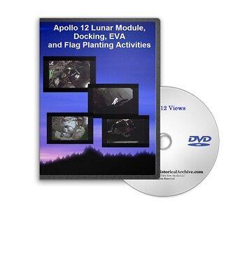 apollo 12 lunar module docking eva flag planting activities views dvd a419