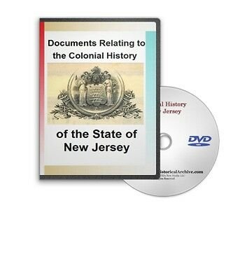 Documents Relating to Colonial History of State of New Jersey 30 books DVD C721