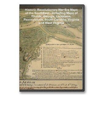 69 Historic Revolutionary War Maps Fl Ga La Pa Va On Cd - B69