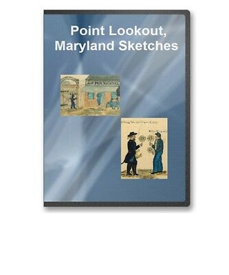 Civil War Point Lookout Maryland Sketches Set by Confederate Prisoner CD B281