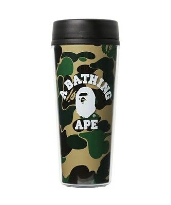 New A BATHING APE ABC COLLEGE TUMBLER Green Camo Authentic from BAPE JAPAN