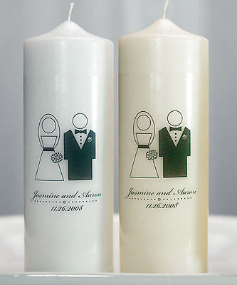 Weddingstar Bride And Groom Couple Personalized Unity Candle Ceremony Wedding Candles