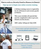 Get Your Ontario Security Licence Online (40-hr course)