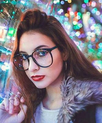 NEW Large Oversized Geek Fashion Glasses Clear Lens Thin Frame Nerd Glasses 2019