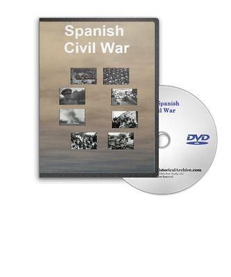 The 1936 Spanish Civil War and Spain Revolution Battle Scenes Air Raid DVD A269