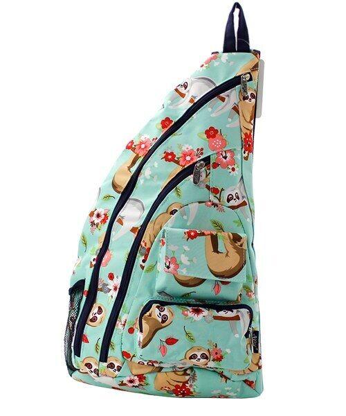 Canvas One Strap Crossbody/ Sling Backpack NEW NGIL Sloth Fr