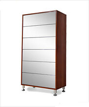 Modern 6 drawers wood shoe organizer storage cabinet with mirror Alexandria Inner Sydney Preview