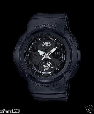 9a565f7e629f BGA-190BC-1B Black Casio Baby-G Ladies Watches Analog Digital Neon Resin New