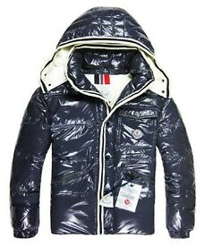 Moncler Branson Classic Men Down Jackets With Hat Blue