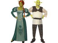 Shrek and Princess Fiona fancy dress outfits