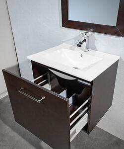 Bathroom Vanity-24 Inch Wall Hung with faucet,sink and mirror