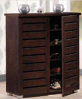 Shoe Cabinet With Doors Furniture Wood For Entryway Storage Organizer Vented