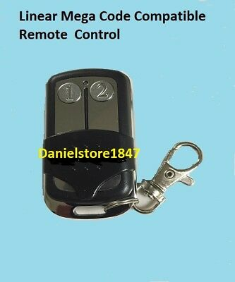 Linear Mega code Garage Door Opener Remote control key chain 2 button