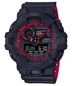 BRAND NEW CASIO G-SHOCK GA700SE-1A4 ILLUMINATOR BLACK-RED ANA/DIGI MEN WATCH!!