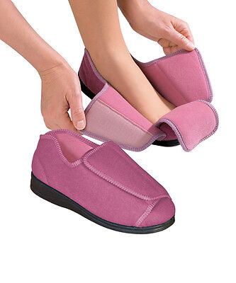 Womens Extra Wide Adaptive Deep Diabetic, Edema Slippers by Silvert's Sizes 6-12