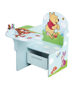WINNIE THE POOH WOODEN TABLE & CHAIR CHILDRENS KIDS