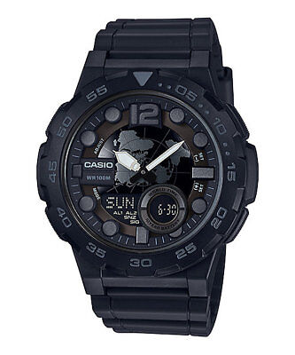 - Casio AEQ100W-1BV,  Men's Databank 30 Watch, 100M, 3 Alarms, Chronograph, Resin