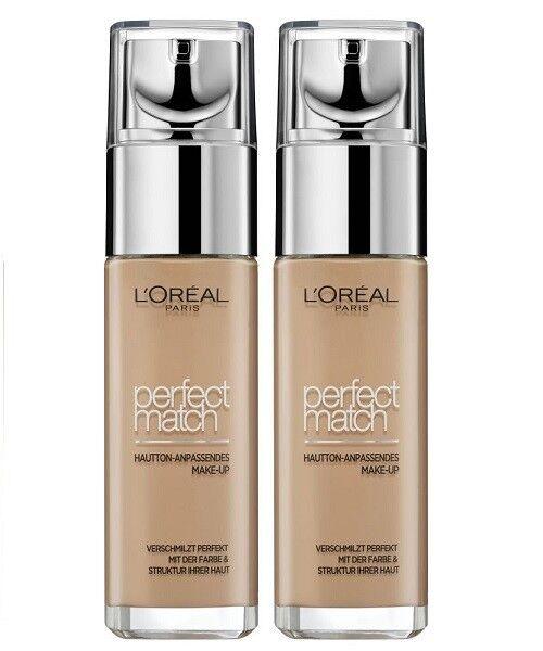 Loreal L'Oréal Paris Perfect Match flüssiges Make-up 2x 30ml