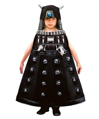Children's Doctor Who Costume (AUTHENTIC EURO BBC DR DOCTOR WHO BLACK DALEK PLUSH COSTUME BOYS CHILD M 7)