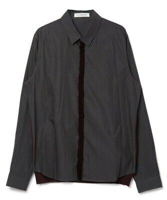 JohnUNDERCOVER - Hidden placket knit shirt - Size 3 - Grey - Undercoverism - DSM