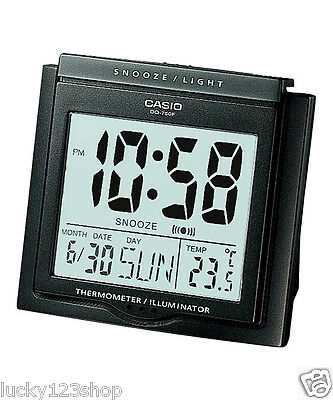 DQ-750F-1D Black Digital Home Clock Tracel Thermometer Alarm Snooza New