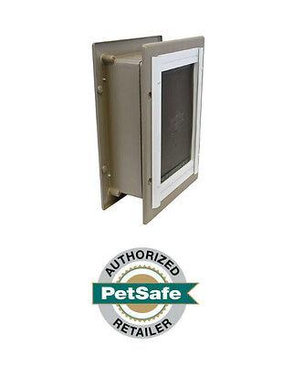 PetSafe Wall Dual Entry Aluminium Telescoping Pet Door for Dogs- Large Med (Wall Dog Doors)
