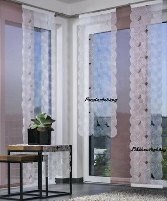 "Fensterbehang ""Boston""-silber-128 x 60 cm (H/B)"