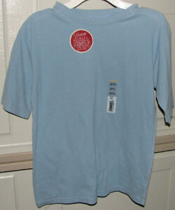 4 x Boys or Girls Light Blue T-Shirts Size 6/7 - NEW with Tags