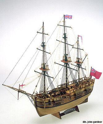 "Detailed, Classic Wooden Model Ship Kit by Mamoli: the ""Endeavour"" segunda mano  Embacar hacia Argentina"