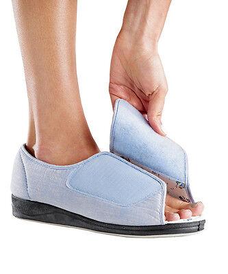 Women's Extra Wide Adaptive Diabetic Open Toe Slippers by Silvert's,Sizes 6-12