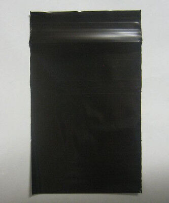 """100 QTY BLACK COLOR  9"""" x 12""""  Plastic Ziplock Poly resealable Jewelry BAGS 2MIL"""
