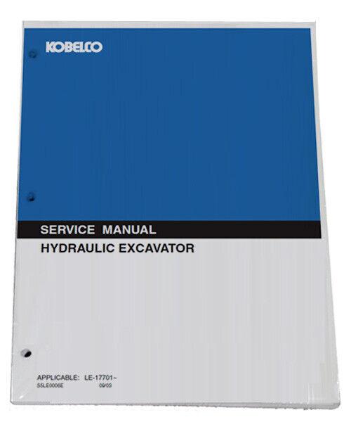 KOBELCO SK60 Excavator Service Manual Repair Technical Shop Book