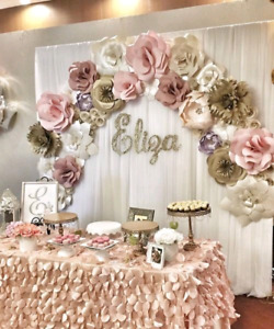 Beautiful Paper Flower backdrops