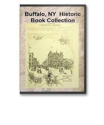 Buffalo NY New York History Culture Family Tree Genealogy 21 Book Set D35