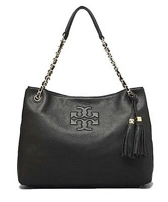 TORY BURCH Thea Chain Shoulder Slouchy Tote 22149651 [Black]